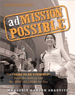 Admission Possible By Hansen Shaevitz, Marjorie